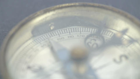 Close up view of the compass and its numbers Footage