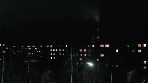 Residental houses an night, time lapse Stock Video Footage