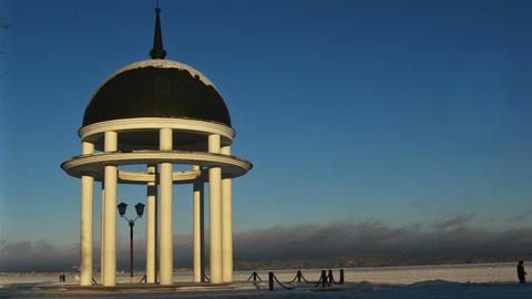 Winter time lapse with Rotunda Stock Video Footage