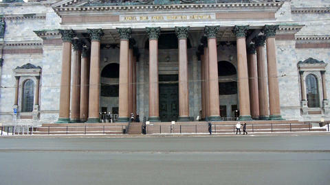 Saint Isaac Cathedral, St. Petersburg, Russia Stock Video Footage