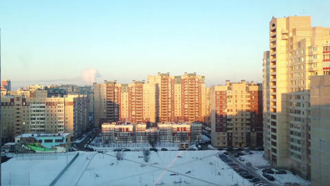 Saint-Petersburg aerial view time lapse Footage