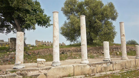 Ancient ruins in Side, Turkey Footage