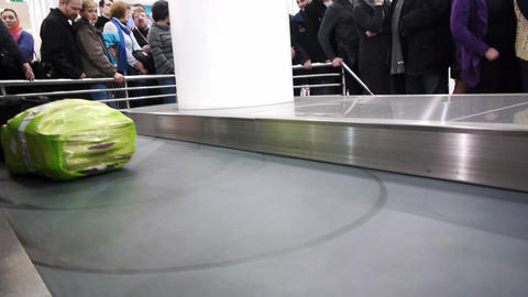 Luggage claim area in the airport Stock Video Footage