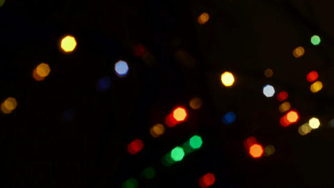 Christmas decoration defocused background Footage