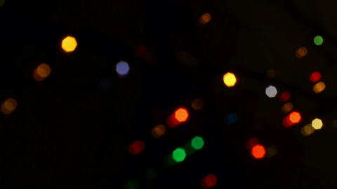 Christmas decoration defocused background Stock Video Footage