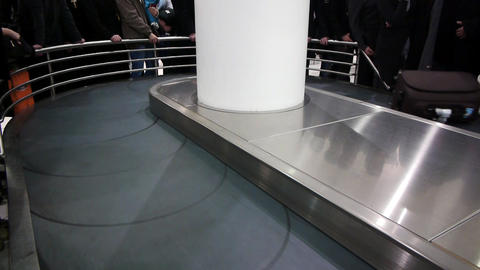 Luggage Claim Area In The Airport stock footage