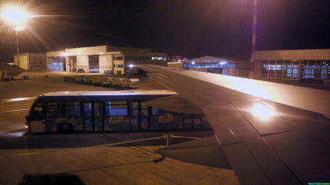 Airport bus Stock Video Footage