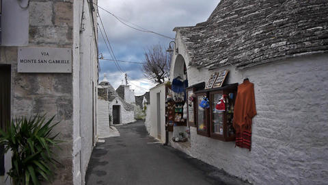Trulli - traditional homes in Alberobello, Italy Stock Video Footage