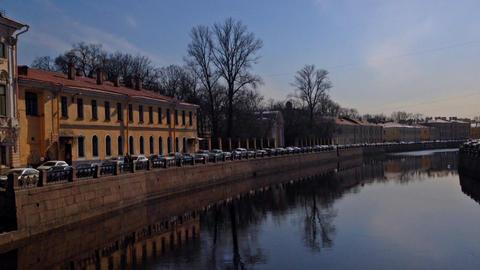 St. Petersburg, Russia, Fontanka river Stock Video Footage