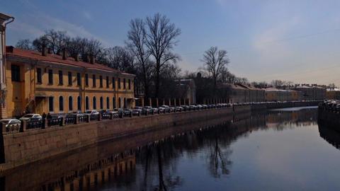 St. Petersburg, Russia, Fontanka river Footage