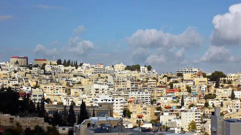 Panoramic view to Bethlehem, Palestine Stock Video Footage