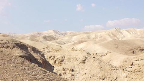 Judean desert panoramic view Stock Video Footage