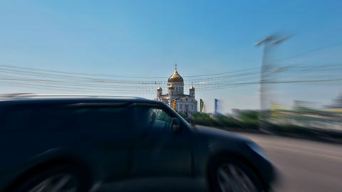 Cathedral of Christ the Savior in Moscow, Russia, Stock Video Footage