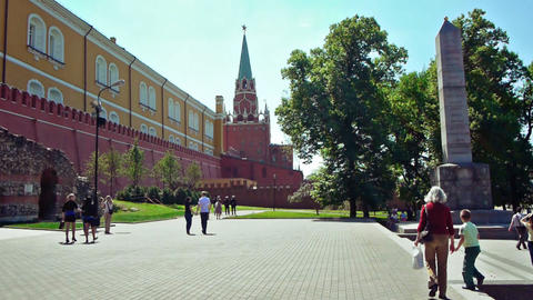 Alexander garden in Moscow, Russia Footage