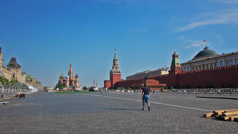 Red Square in Moscow, the capital of Russia Stock Video Footage