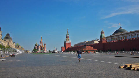 Red Square in Moscow, the capital of Russia Footage
