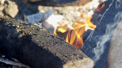 Campfire closeup Footage