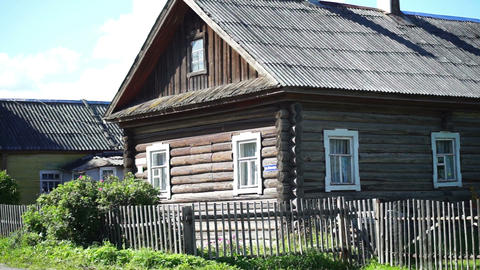 Old house in russian village Footage