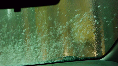 Car wash point of view video Footage