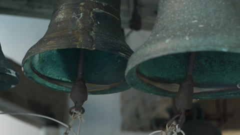 Bells on church bellfry Stock Video Footage