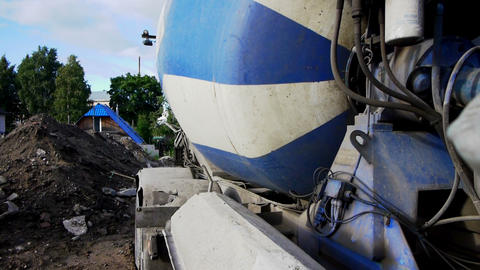 Building site with working concrete mixer Footage