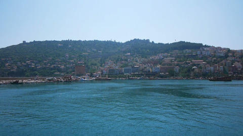 Summer view of bay of Alanya, Turkey Stock Video Footage
