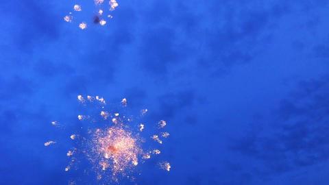 Firework on Victory Day celebration Footage