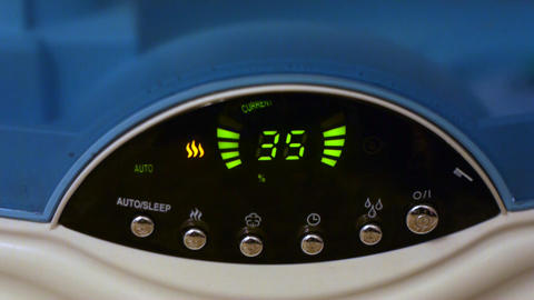 Air Humidifier Makes Wet Steam stock footage