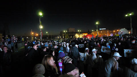 Spectators waiting for participants of Sochi2014 O Stock Video Footage