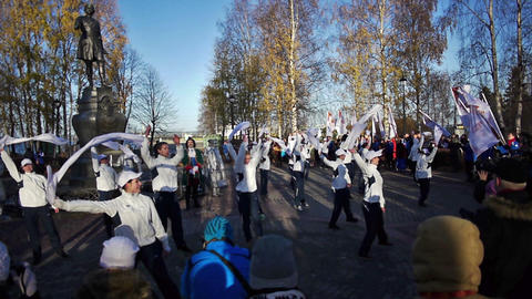 Dance during official song of the Sochi2014 Olympi Stock Video Footage