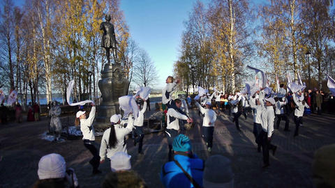 Dance During Official Song Of The Sochi2014 Olympi stock footage