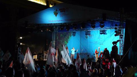 Olympic champions Evgenia Medvedeva and Alexander Stock Video Footage
