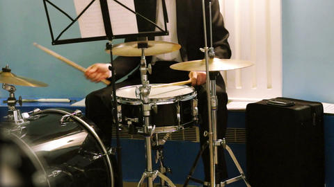 Musician playing the percussion instruments Footage
