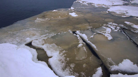 Crack of Onego lake ice, Petrozavodsk Footage