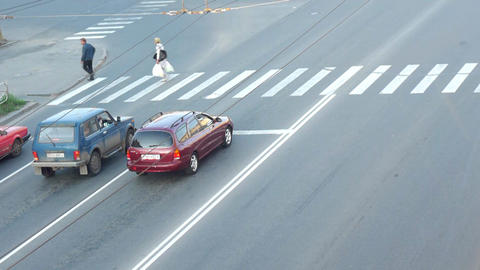 City traffic aerial view Stock Video Footage