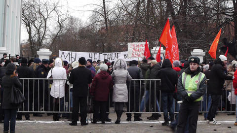 Protests for the fair elections in Russia on Decem Footage