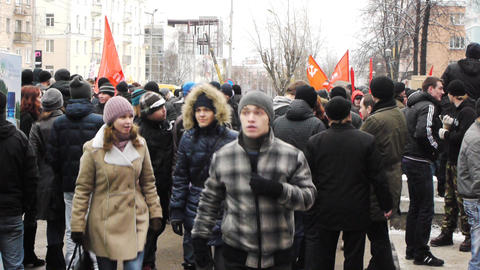 Protests For The Fair Elections In Russia On Decem stock footage