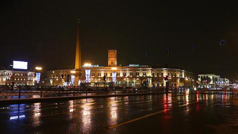 Moskovsky rail terminal at Vosstaniya Square, Sain Footage