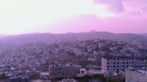 Sunrise In Bethlehem, Palestine, Time Lapse stock footage