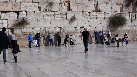 Western wall in Jerusalem, Israel in the holiest p Footage