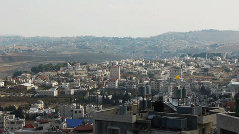 Panoramic view to Bethlehem, Palestine Footage