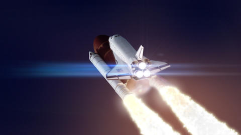 Space shuttle launch loop Live Action