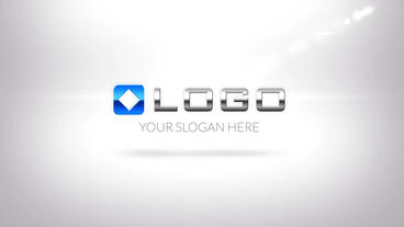 Simple Clean Business Logo Zoom Intro stock footage
