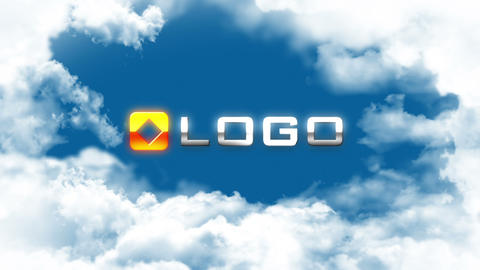Clouds Transition Reveal Fly Corporate Logo Opener After Effects Template