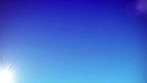 Sun is rising on clear sky - HD Stock Video Footage