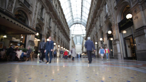 Buyer in trade Galleria Vittorio Emanuele II in Mi Footage