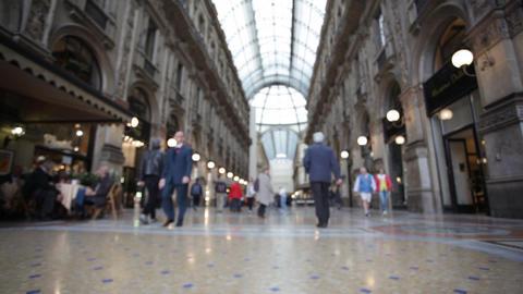 Buyer in trade Galleria Vittorio Emanuele II in Mi Footage