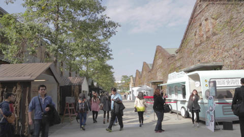 huanshan creative park - low to high tilt - touris Footage