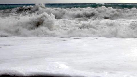 Autumn Storm On The Mediterranean Sea stock footage