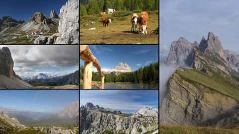 dolomites alps montage 11596 Footage